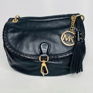 MICHAEL Michael Kors Black Leather Saddle Bag
